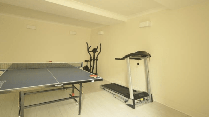 The house also has its own gym
