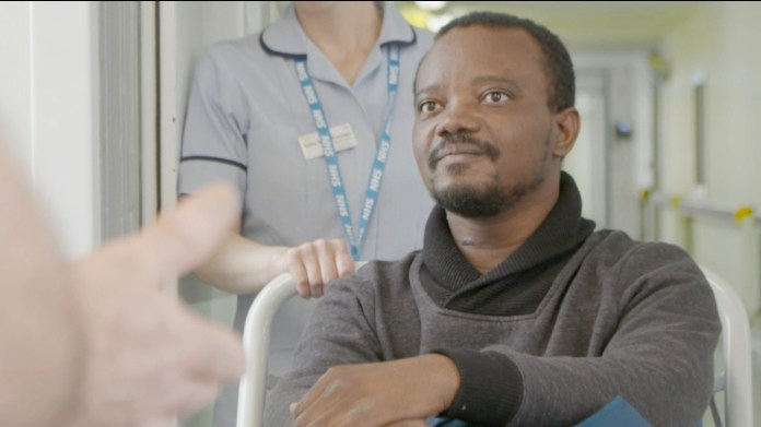George Chianike was kicked out of a room with full honor guard of nurses and doctors applauding his recovery