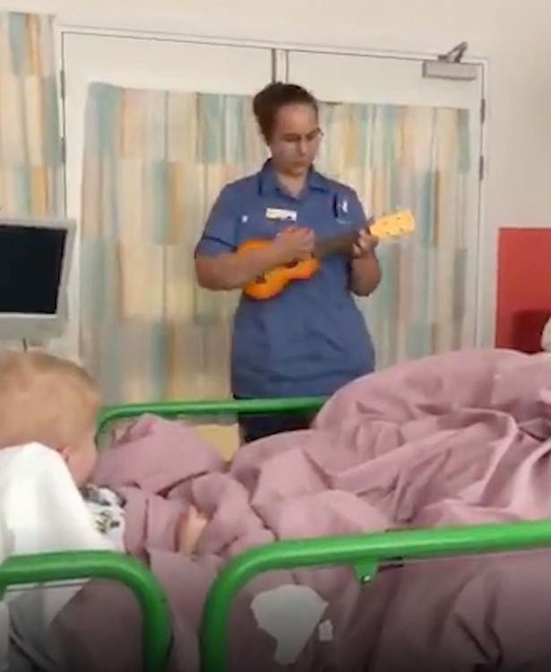 The 25-year-old woman works at Great Ormond Street Hospital and generally uses her skills in singing for children with cancer.