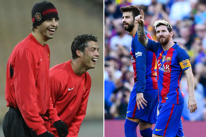 Gerard Pique chose long-standing Barca pal Messi over Ronaldo