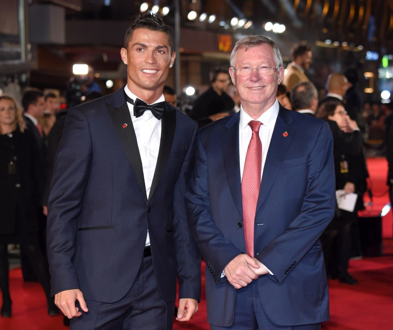 Sir Alex Ferguson stood side-by-side with Ronaldo at the premiere of his documentary