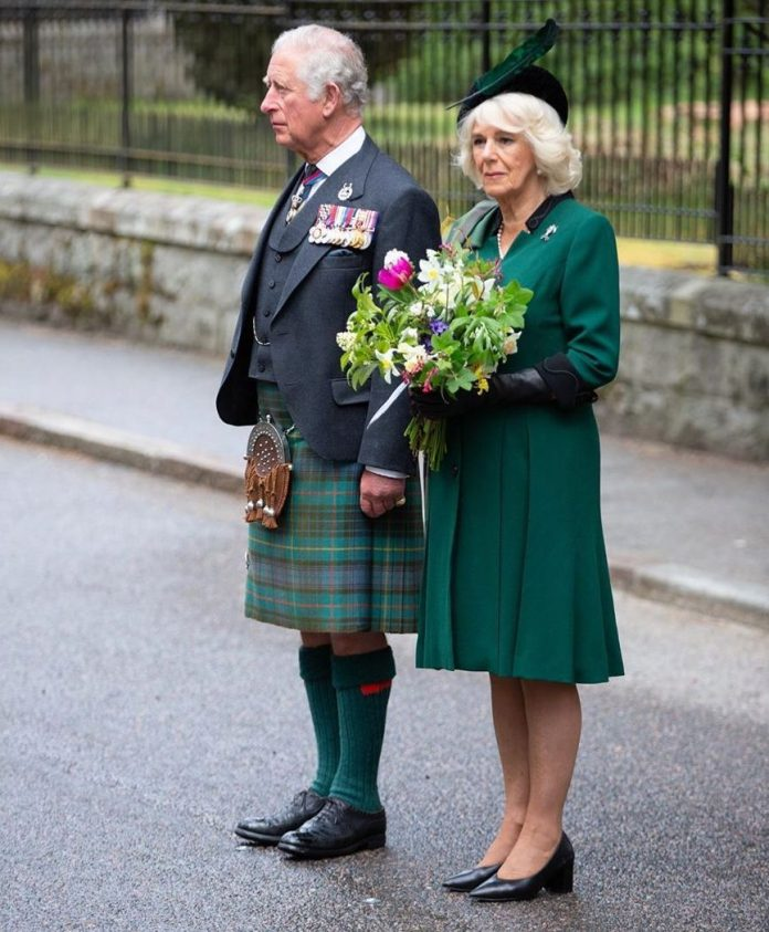 Prince Charles was joined by the Duchess of Cornwall as he leads a two-minute silence across Britain