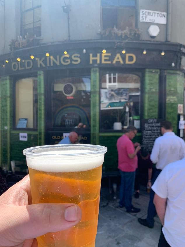 Britons used social media to post photos of their portable pints
