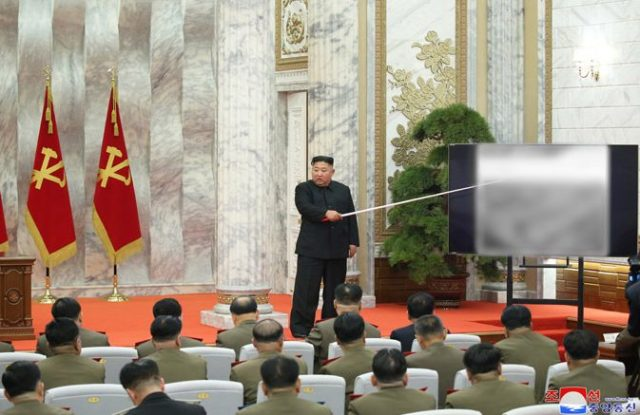 The despot holds court as he discusses boosting his country's nuclear capabilities