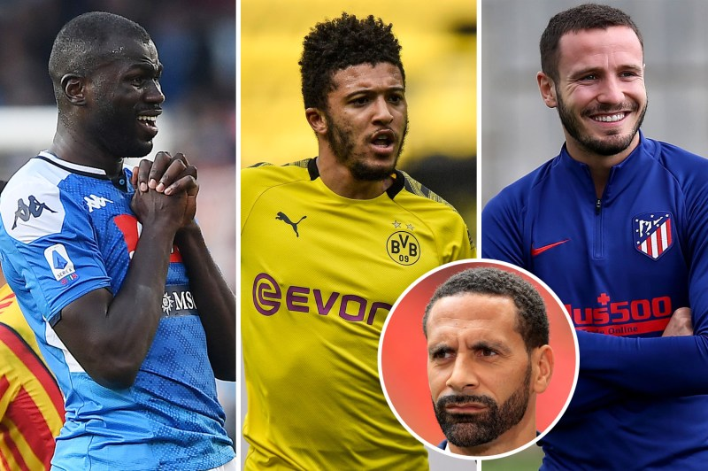 Rio Ferdinand has named the three players he'd love Man United to sign - Kalidou Koulibaly,Jadon Sancho and Saul Niguez