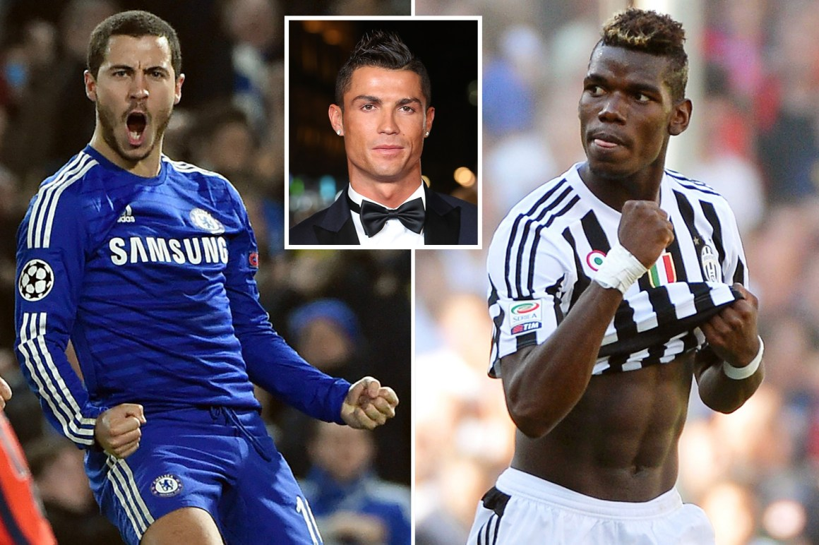 In 2015, Ronaldo picked out his five young stars to watch, including Hazard and Pogba