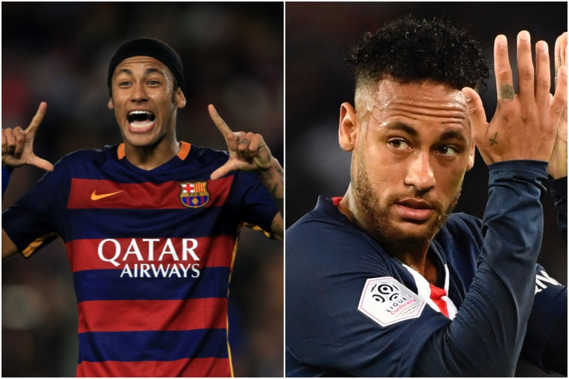 Neymar has become one of the world's top footballers since 2015
