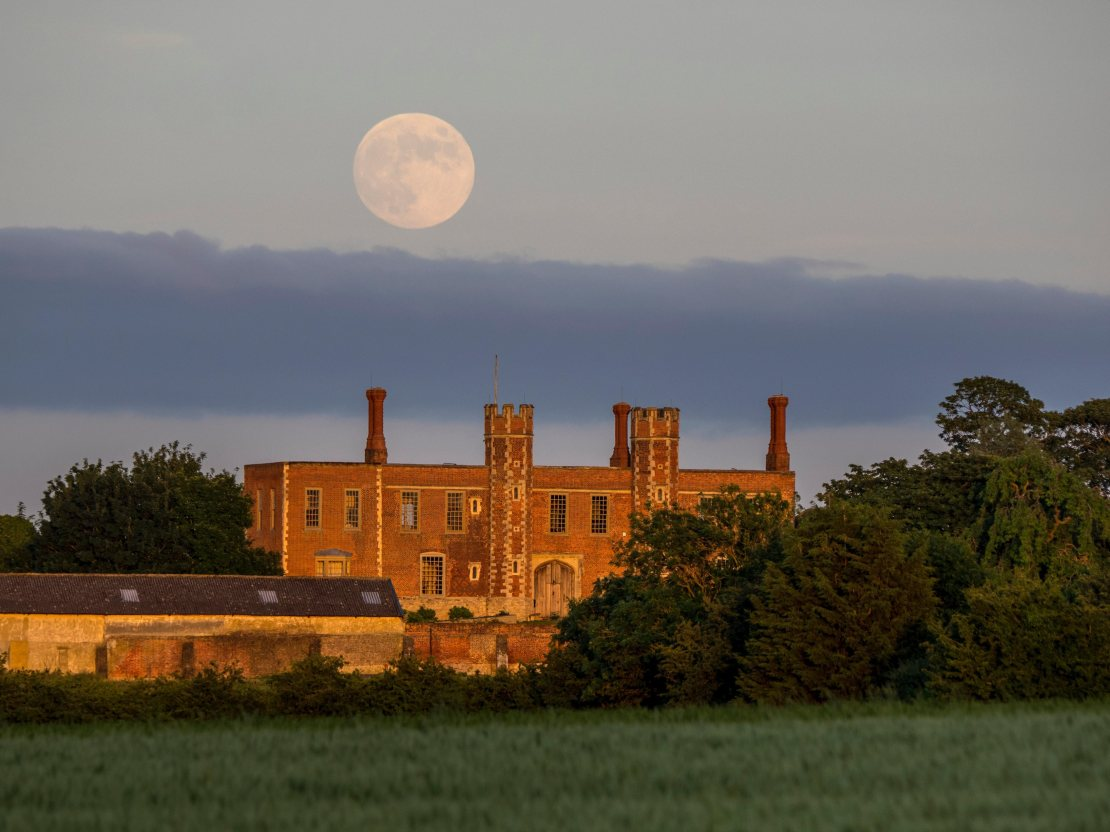 June's full Moon is always particularly low in the sky