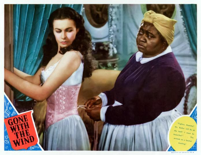 Scarlett O'Hara, played by Vivien Leigh, photographed with her house mom, played by Hattie McDaniel from the 1939 film Gone with the Wind