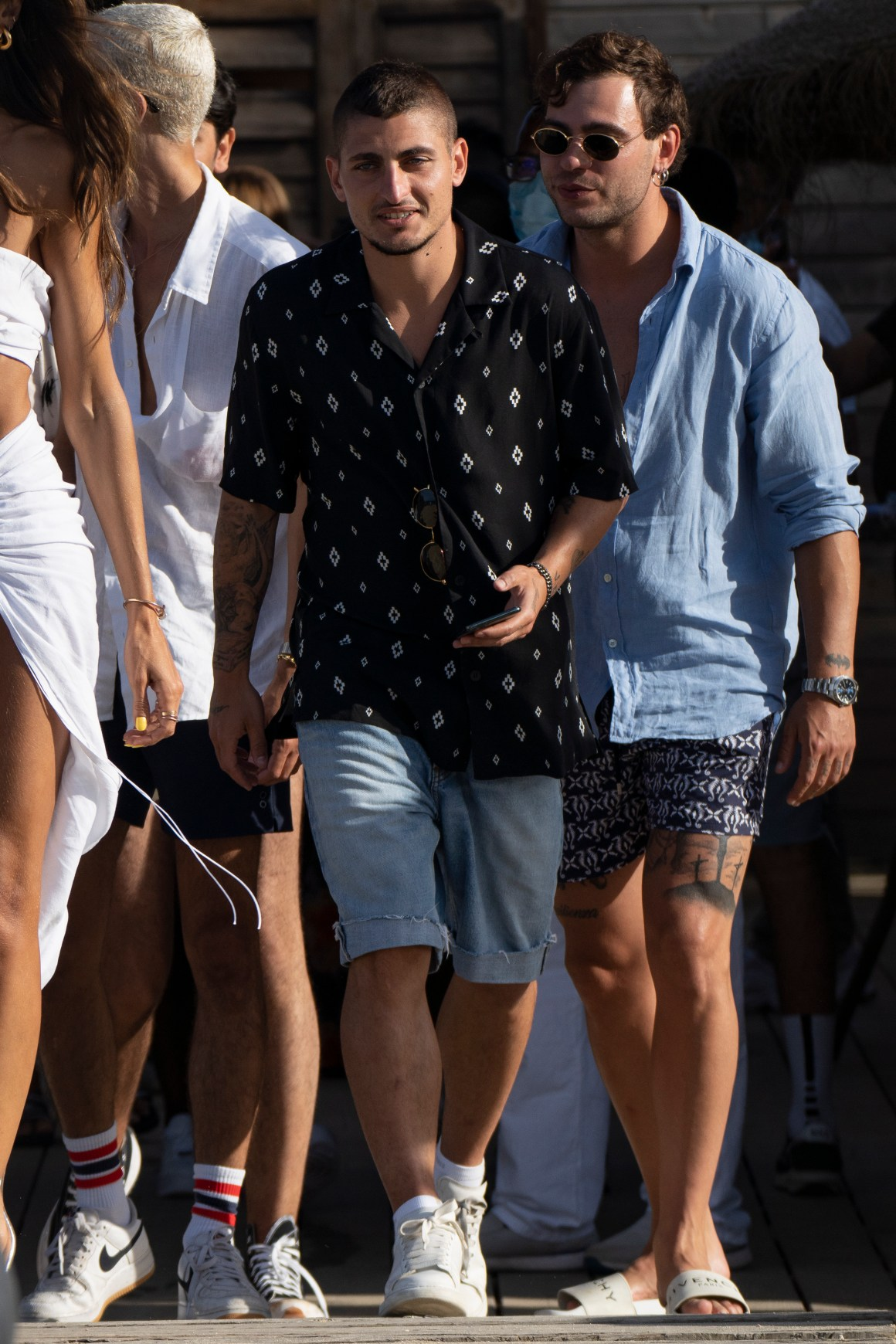 PSG star Marco Verratti enjoyed a day out with Neymar