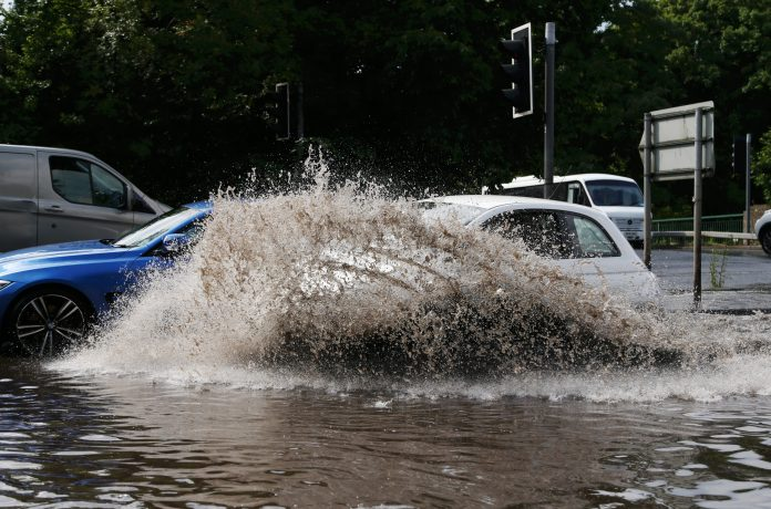 The rains in Stourbridge made the roads impassable for many