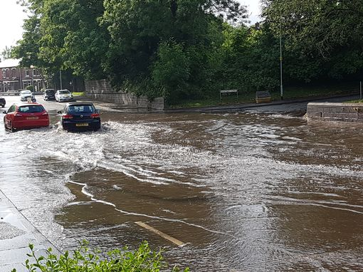 Storms hit parts of Greater Manchester last night