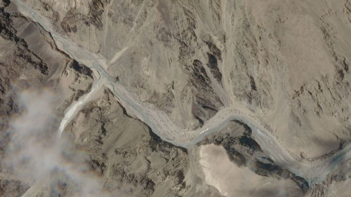 Satellite images show the disputed Galwan Valley