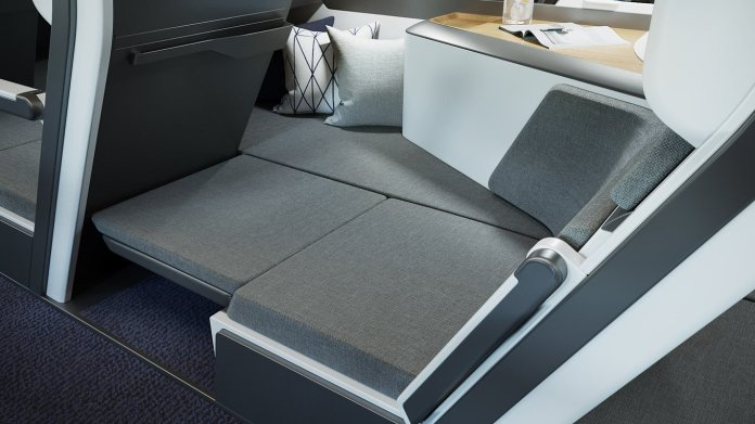 They can then fold a padded section where the footwell is, and links to their headquarters in the space on the side