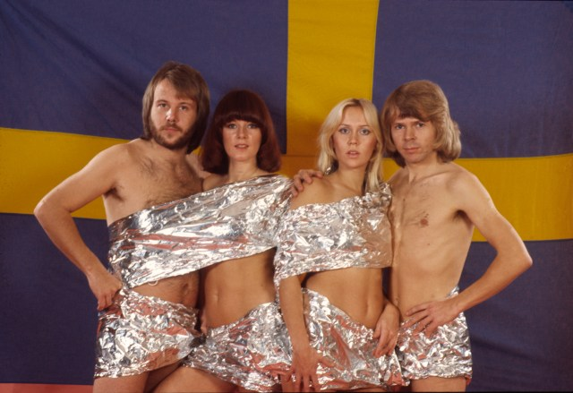 Abba's promotionl shots in the 70s weren't always the most conventional