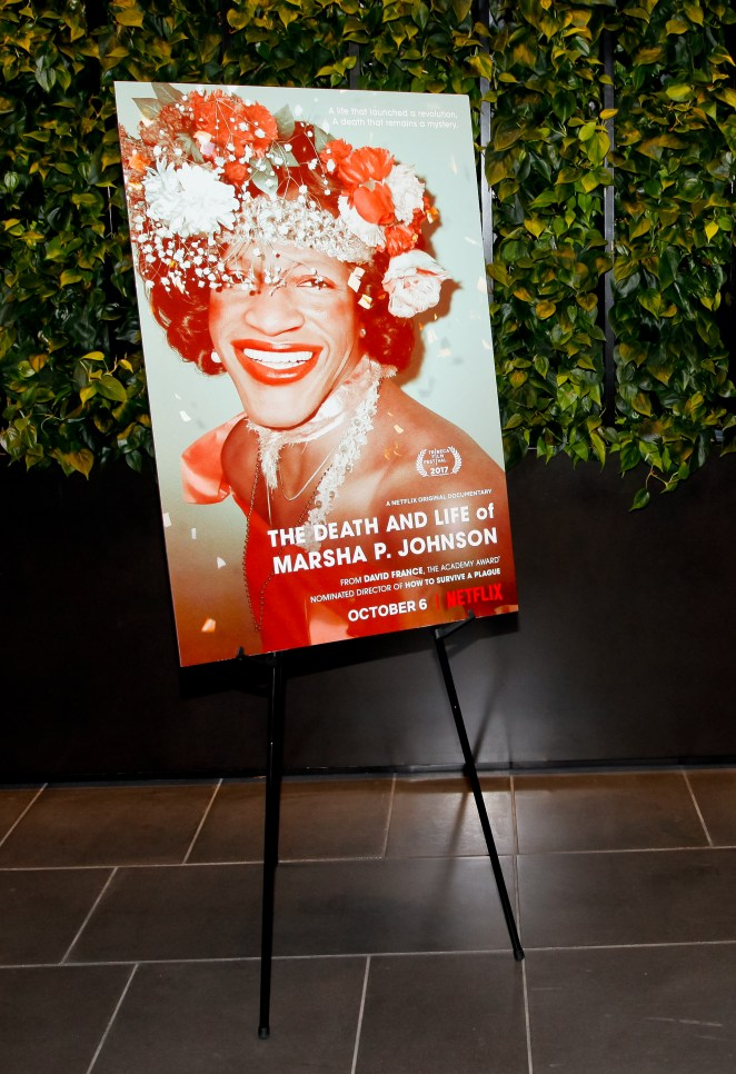 A poster from the premiere of her documentary