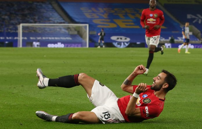 Bruno Fernandes grabbed a double as Manchester United thrashed Brighton