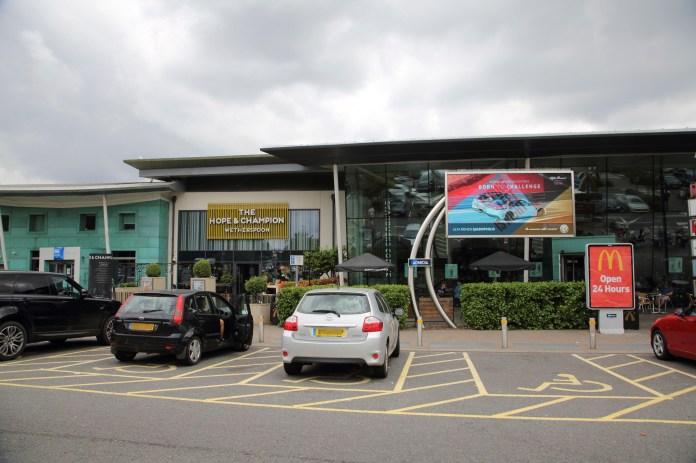 Beaconsfield Service Station on M40 Buckinghamshire England