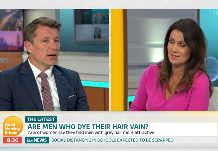 Ben revealed that 72% of women find men with grey hair attractive