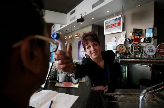 A bartender in Victoria is a temperature customer