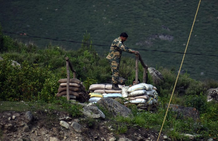 Indian forces dig amid tensions with China
