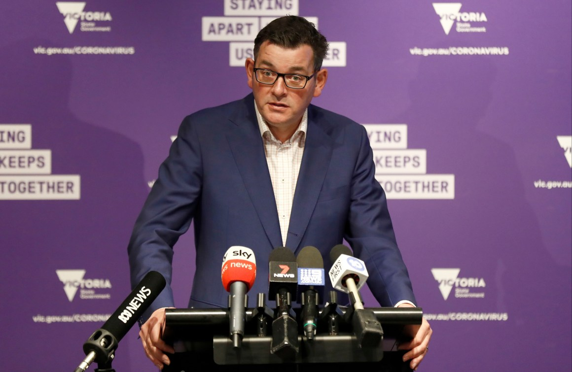 Victoria state premier Daniel Andrews said the tough new measures were essential