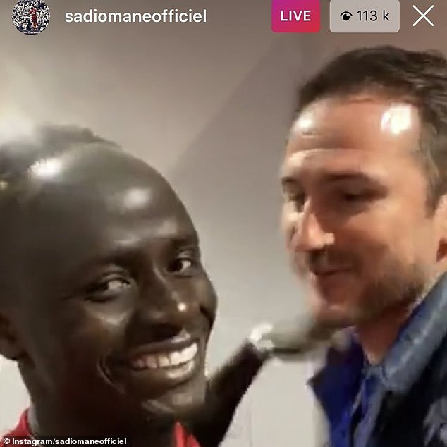 Sadio Mane included Lampard in his Instagram Live
