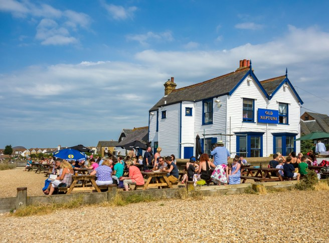 The Old Neptune is a favourite of locals and tourists alike thanks to its seats on the pebble beach