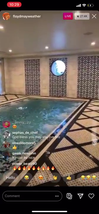 Floyd Mayweather shows off billionaire lifestyle with tour of LA ...