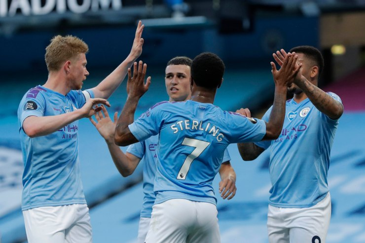 Manchester City ran rampant as they crushed Liverpool in the Reds' first game since winning the league
