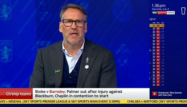Paul Merson also decided to change the brooch he wore