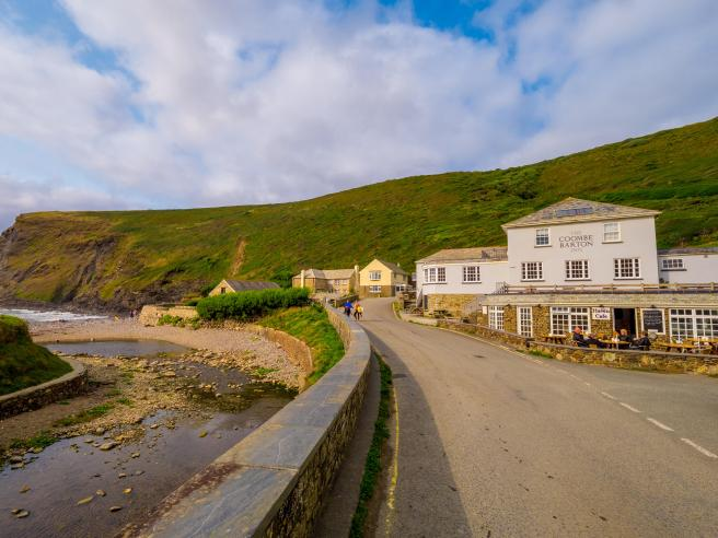 The tiny village of Crackington Haven has just the one pub next to the beach, favoured by surfers
