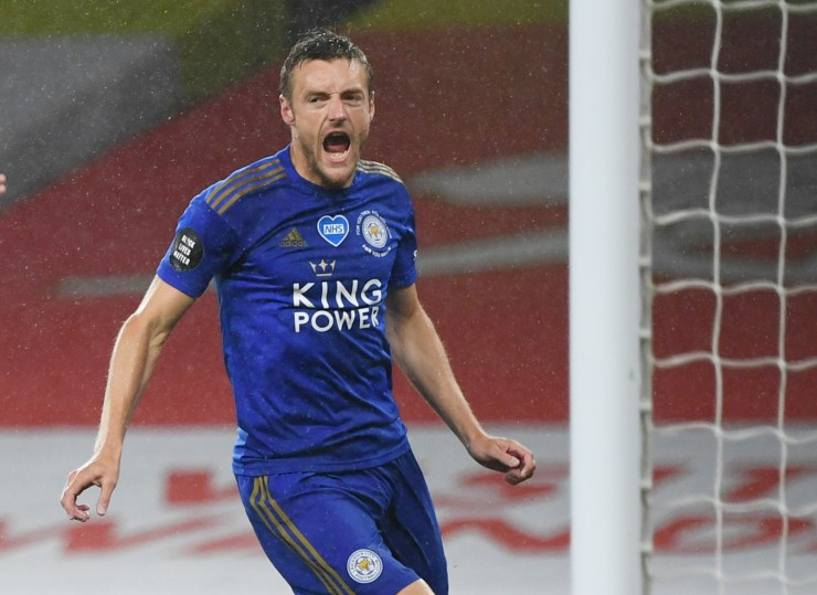 Jamie Vardy leads the race for the Golden Boot