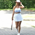 Summer Monteys Fullam Cheekily Flashes Bum In Skimpy Tennis Outfit