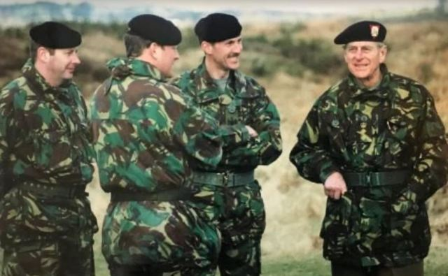 Prince Philip is seen here in camouflage as part of his role as The Rifles' Colonel-in-Chief