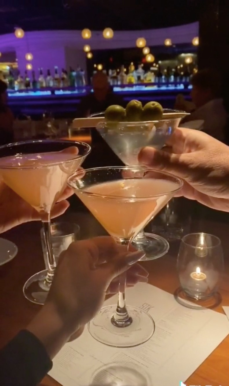 Alyssa showed off cocktails in her swanky video