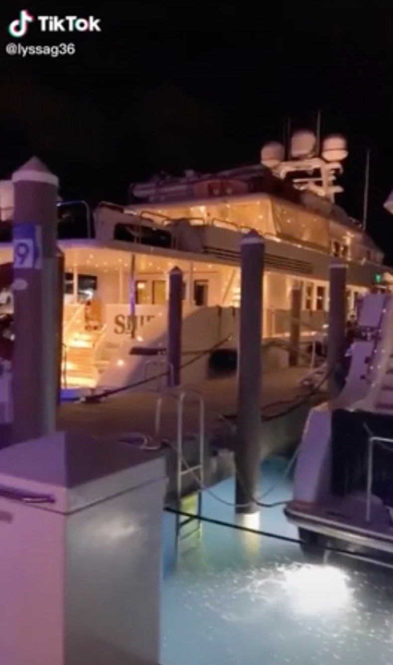 Alyssa started her video showing off some expensive-looking yachts