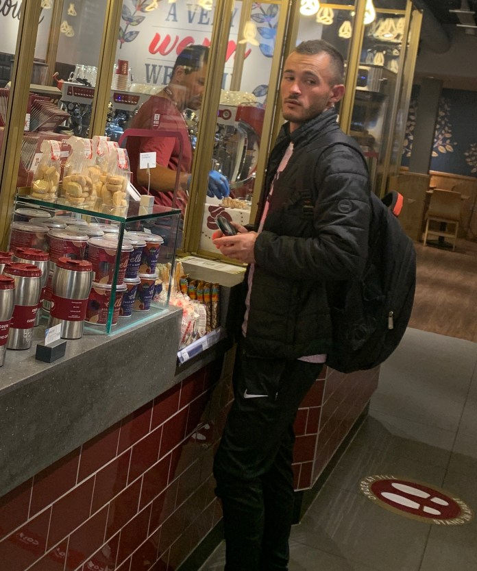 Costa Coffee said he was not going to enforce the rules - photo taken this morning