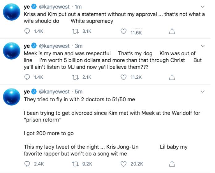 Afirmó que ha estado tratando de divorciarse de Kim durante más de un año.