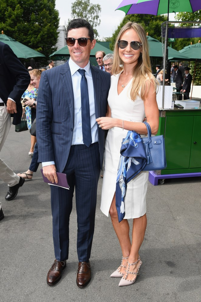 Rory McIlroy and wife Erica Stoll attend Wimbledon in 2018
