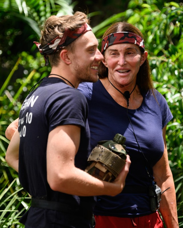 The I'm A Celebrity star with Caitlyn Jenner in the jungle