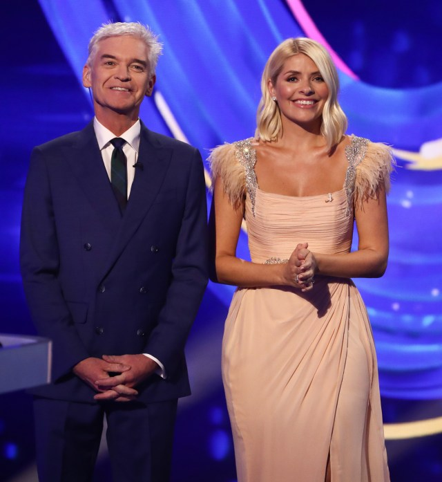 Phillip alongside Holly Willoughby on Dancing On Ice this year