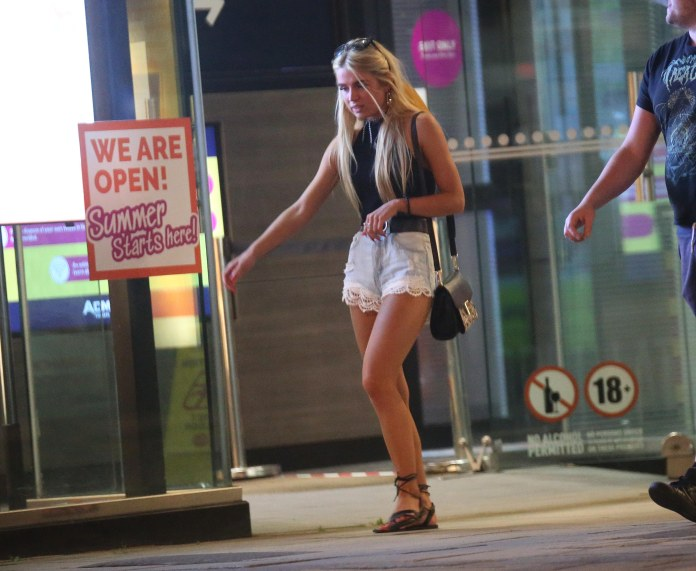 Temperatures were higher than Ibiza yesterday - boosting British morale