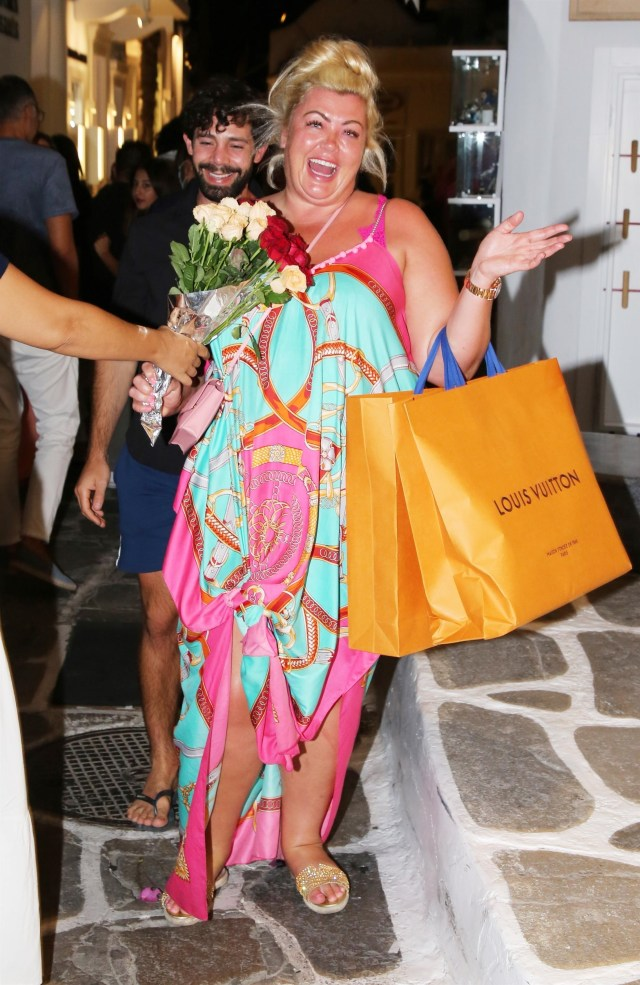 Gemma Collins has proven to be a hit with locals in Mykonos