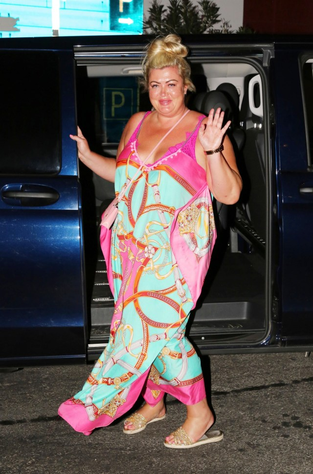 Gemma waved to photographers before heading back to her luxury hotel