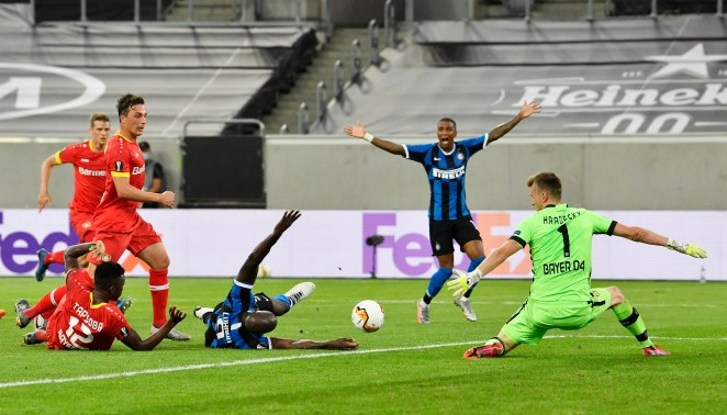 Romelu Lukaku poked the ball home from the floor to give Inter Milan a 2-0 lead