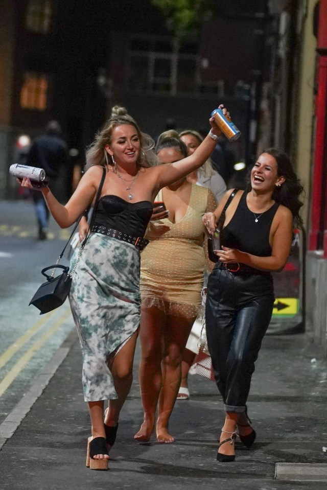Girls hit the town in Sheffield on the Bank Holiday weekend