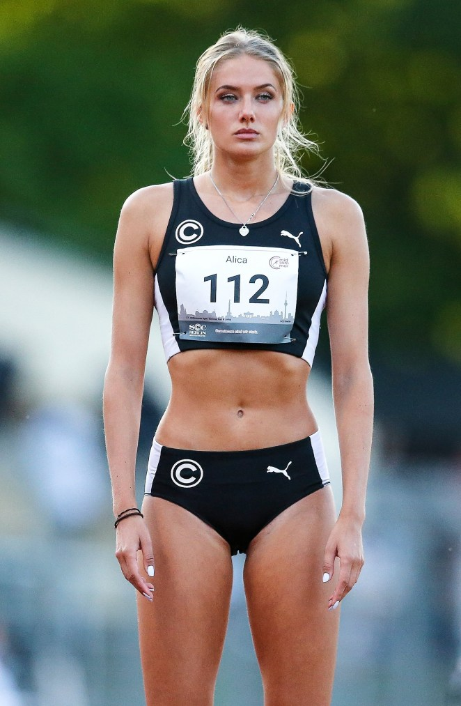 She is Germany's hot prospect at the next Olympics