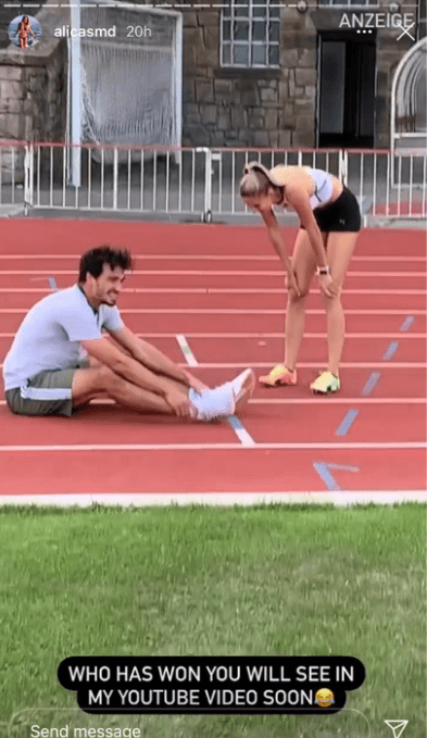 She put Hummels' fitness to the test in a 400m race