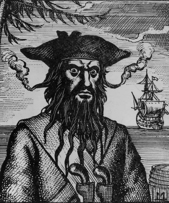 Blackbeard was a notorious pirate captain during the early 18th Century